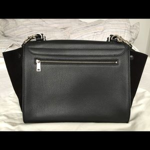 Celine Bags - Celine Trapeze black leather with black suede